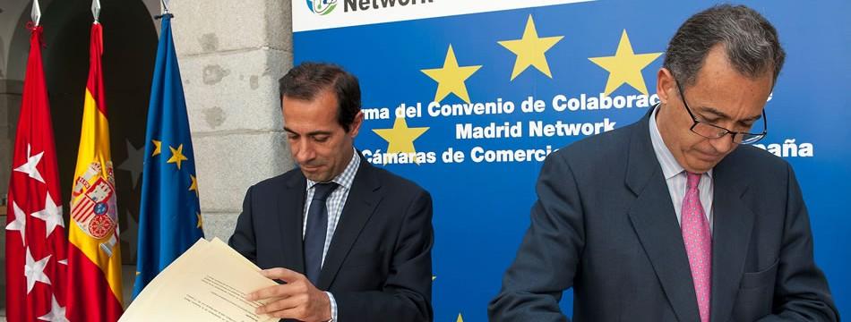 Firma del convenio entre Madrid Network y las Cámaras de Comercio Europeas